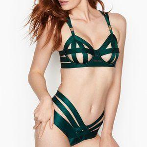 Victoria's Secret Strappy Demi Bra & cheeky Set